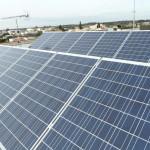 Fotovoltaico 3,00 kW Giugianello (LE), struttura in alluminio, panelli tedeschi Shott Solar 3-Primo piano moduli tedeschi Shott Solar